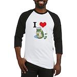 I Heart (Love) Green Olives Baseball Jersey