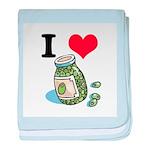 I Heart (Love) Green Olives Infant Blanket