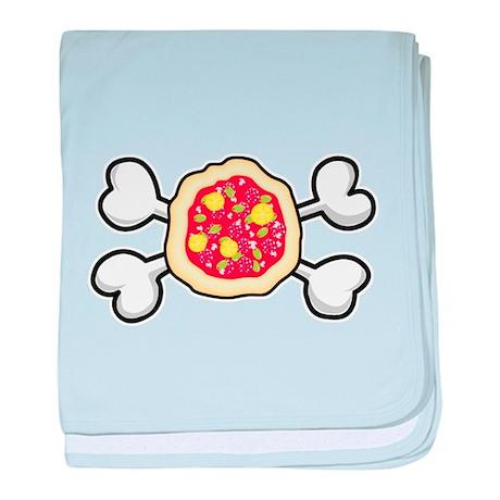 Funny Pizza & Crossbones Desi Infant Blanket