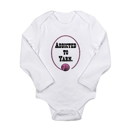 Addicted To Yarn Long Sleeve Infant Bodysuit
