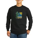 Cactus Desert Scene Long Sleeve Dark T-Shirt