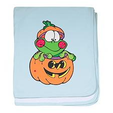 Silly Froggy in Pumpkin Infant Blanket