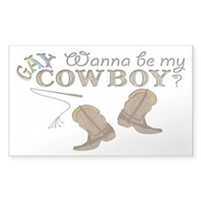 Be My Gay Cowboy Rectangle Decal