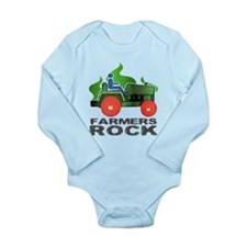 Farmers Rock Long Sleeve Infant Bodysuit