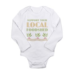 Foodshed Long Sleeve Infant Bodysuit