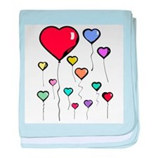 Balloon Hearts Infant Blanket