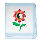 Retro Yin Yang Flower Infant Blanket