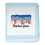 Reindeer Games Cartoon Infant Blanket