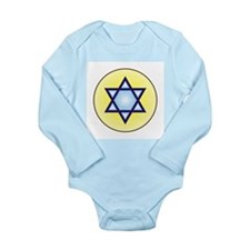 Jewish Star of David Long Sleeve Infant Bodysuit