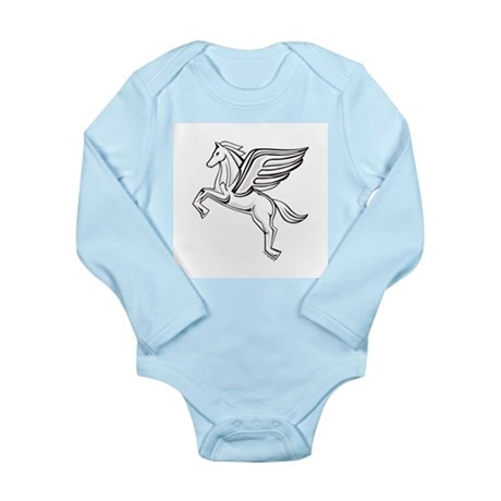 Chasing Pegasus Long Sleeve Infant Bodysuit