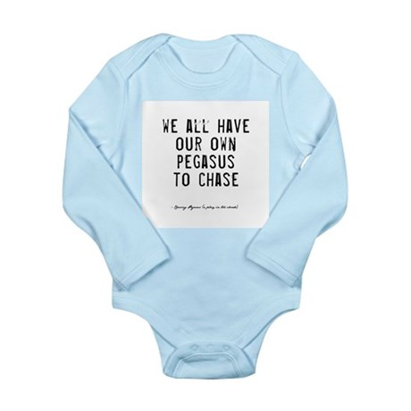 Pegasus Quote Long Sleeve Infant Bodysuit