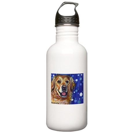 Portrait of a Golden Stainless Water Bottle 1.0L