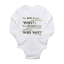 Shaw Quote No. 3 Long Sleeve Infant Bodysuit