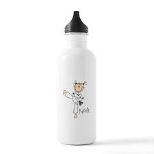 Stick Figure Karate Water Bottle