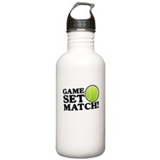 Game Set Match Water Bottle