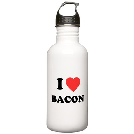 I Love Bacon Stainless Water Bottle 1.0L