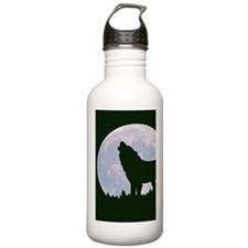 Wolf and Moon Water Bottle