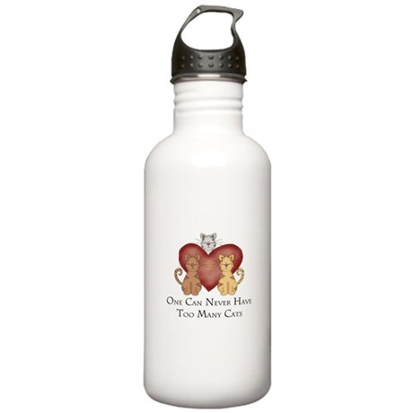 Too Many Cats Stainless Water Bottle 1.0L