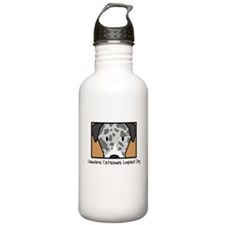 Unique Catahoula leopard dog Water Bottle