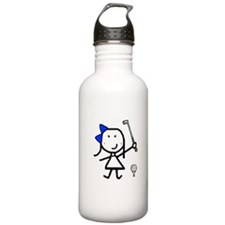 Girl & Golf Sports Water Bottle