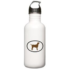 Funny Dogs labradors Water Bottle