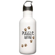 Puggle Mom Sports Water Bottle