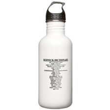 Redneck Dictionary Water Bottle