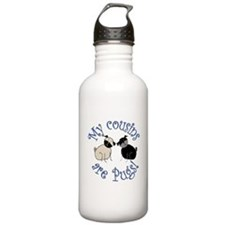 Pug Cousins Water Bottle