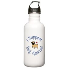 Pug Rescue (Fawn) Water Bottle
