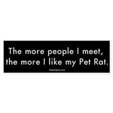 More People/Pet Rat Bumper Bumper Sticker