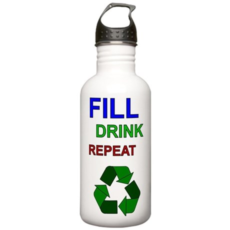 Fill Drink Repeat Stainless Water Bottle 1.0L