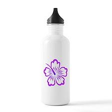 Purple Hibiscus Water Bottle