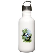 Panda Bears Water Bottle