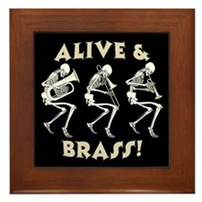 Alive & Brass Framed Tile