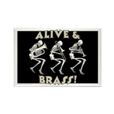 Alive & Brass Rectangle Magnet