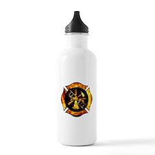 Flaming Maltese Cross Water Bottle