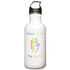 Know Love, No Hate Water Bottle