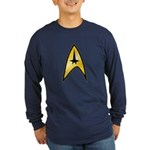Star Trek Insignia (large) Long Sleeve Dark T-Shir