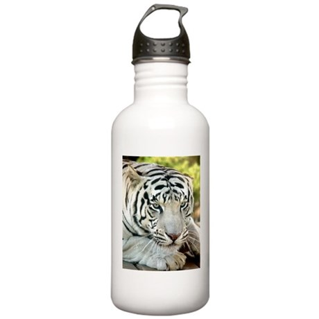 White Tiger Stainless Water Bottle 1.0L