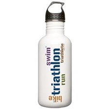 Triathlon Text Sports Water Bottle