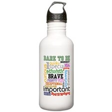 """Dare to Be"" (whi Water Bottle"