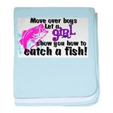 Move Over Boys - Fish Infant Blanket