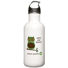 Unique Green owl Water Bottle