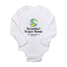 TOP Volleyball Slogan Long Sleeve Infant Bodysuit