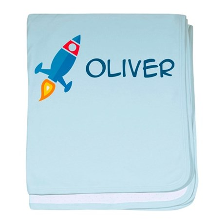 Oliver Rocket Ship Infant Blanket