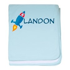 Landon Rocket Ship Infant Blanket