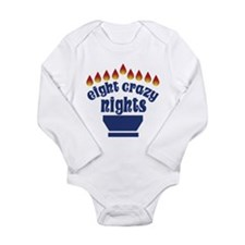 Eight Crazy Nights - Long Sleeve Infant Bodysuit