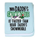 Daddy's Snowmobile Infant Blanket