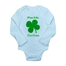 Kiss Me I'm Cute Long Sleeve Infant Bodysuit