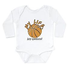 Basketball - My Life Long Sleeve Infant Bodysuit